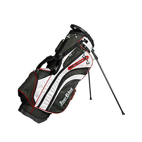 Tour Edge Men's HL3 Stand Bag, Black/Silver/Red - Edge Stand Bag