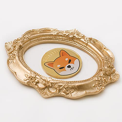 J.CARP Shibcoin Commemorative Coin Gold Plated Doge Coin Limited Edition Collectible Coin with Protective Case (Gold, 1PCS)