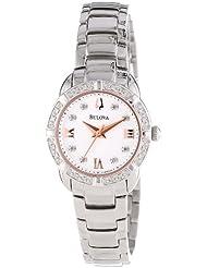 Bulova Womens 96R176 Diamond Set Case Watch