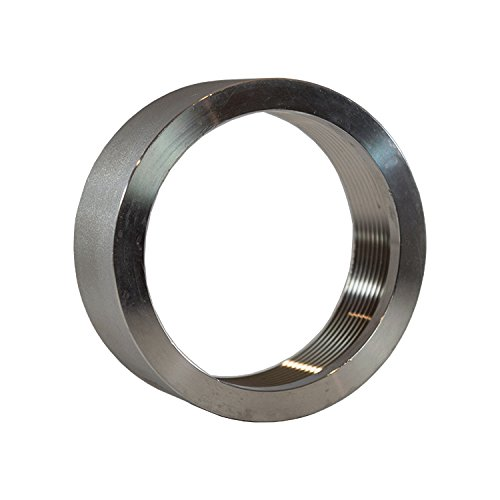 3'' in Inch NPT 316 Stainless Steel Threaded Half Coupling Weld On Pipe Tube Bung Fitting SS for Home Brewing, Automotive, Industrial, Aerospace