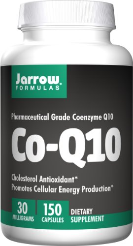 Supplements Coenzyme Q10 30 Capsules (Jarrow Formulas Co-Q10 30 mg, Promotes Cellular Energy Production, 30 mg, 150 Caps)