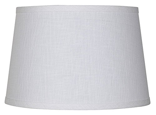 White Linen Drum Lamp Shade 10x12x8  , 2 Pack