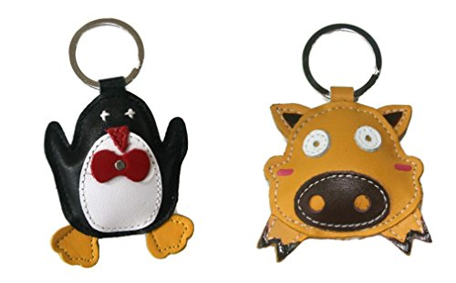 bella-pazzo-handmade-penguin-and-yellow-pig-leather-keychain-backpack-animal-key-ring-clasp-bag-char