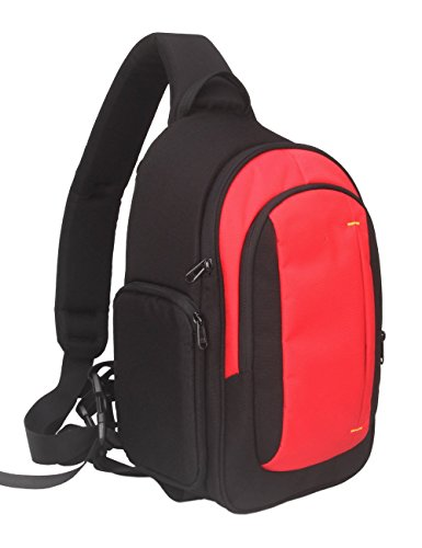 Abonnyc Camera Sling Backpack Bag for DSLR/SLR and Mirrorless Cameras (Canon Nikon Sony Pentax) (Red Camera Backpack)