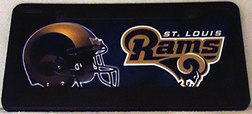 1 , Football Sign of the, SAINT LOUIS RAMS , Metal Sign, Surrounded by a Polyethylene Black Frame,21A3.0+17B5.4+3001+