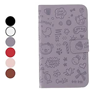 Little Evil Girl Pattern PU Leather Case for Samsung Galaxy Note 2 N7100 (Assorted Colors) --- COLOR:Black