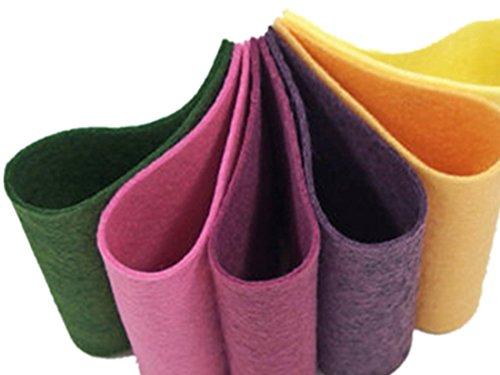 Felt Wool Floss - Felt Bundle,Wool Blend Felt Sheets, 9 x 12 inches, Pastel Felt, Pure Merino Wool, Set of Twelve,Wool Assortment, Embroidery Floss, Stuffing, DIY Felt Set, DIY Felt Flowers, 1mm (4, 9 x 12 inches)