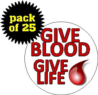 (Quantity 25) Give Blood - Give Life 1.2 - Donor Pin Shopping Results