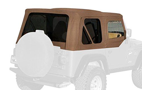 Rampage Products 99517 Factory Replacement Soft Top for 1997-2006 Jeep Wrangler TJ with Door Skins, Spice w/Tint (Outer Door Skin)