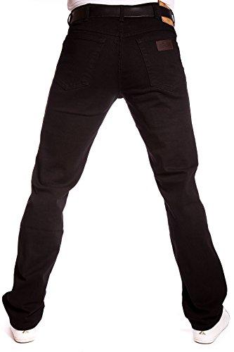 Wrangler - Jeans Texas stretch noir Overdye W12109004 - noir, 33W / 30L