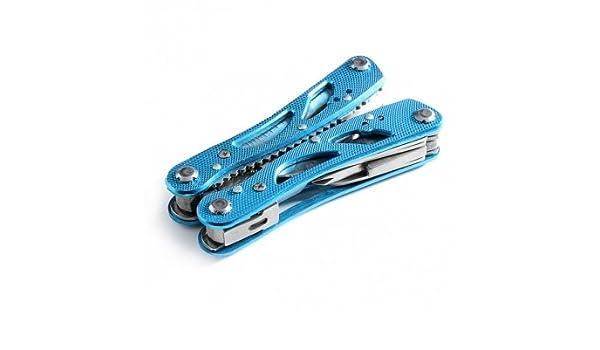 Azul Jeep multifuncional alicates destornillador cuchillo cortador de alambre abridor de botella herramientas Set con 11 piezas reemplazables puntas de ...