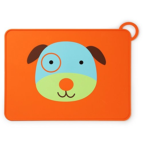 Skip Hop Zoo Fold and Go Silicone Placemat, Darby Dog by Skip Hop