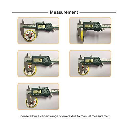 PSA Lot de 5 disques de pon/çage 50 mm Filetage externe M6 et 5//16-24 5//16-24 Thread