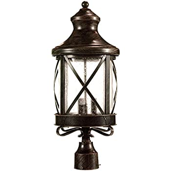 Acclaim 3557ABZ Stratford Collection 1-Light Post Mount Outdoor ...