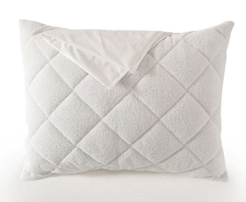 Elegance Quilted Pillow (Premium Waterproof Breathable Pillow Protector - Plush TerryCloth Quilted Pillow Case - Single - Fully zipped (King))