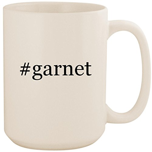 #garnet - White Hashtag 15oz Ceramic Coffee Mug Cup