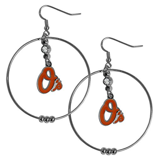 MLB Baltimore Orioles Hoop Earrings, 2-Inch (Baltimore Orioles Chrome Emblem compare prices)