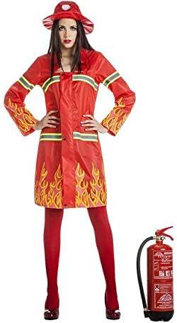 Disfraz de Bombera en Llamas para mujer: Amazon.es: Juguetes y juegos