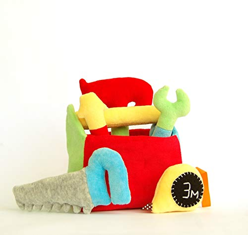 Tool Box Gift for Boy Plush Hammer Baby Rattle