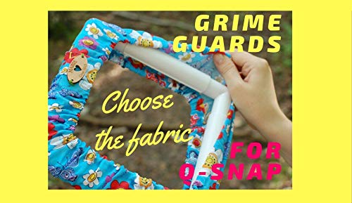Q-Snap Grime Guard Cross Stitch Choose the Fabric - Name tag - Many size options ()