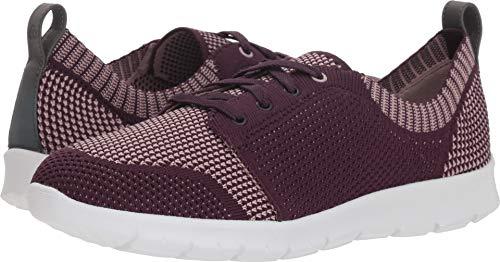 CLARKS Women's Step Allenasun Sneaker, Aubergine Textile, 060 W (Aubergine Apparel)