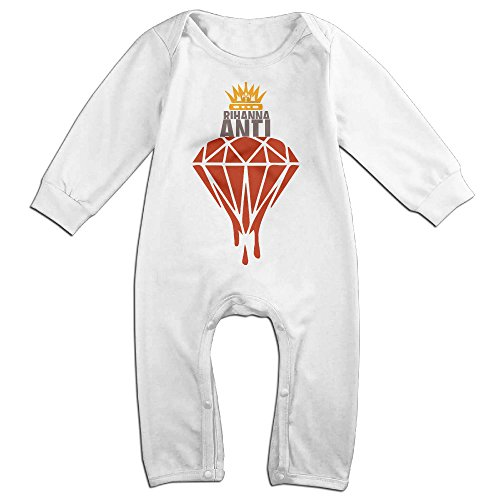 Rihanna-anti White BABY Cartoon Long Sleeves Baby Onesies for sale  Delivered anywhere in Canada