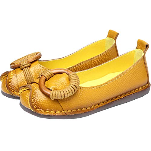 BZBZBZ Frauen Pumpe Loafer Gürtelschnalle Flache Schuhe Schwangere Frauen Schuhe Casual Court Schuhe EU-Größe 35-41