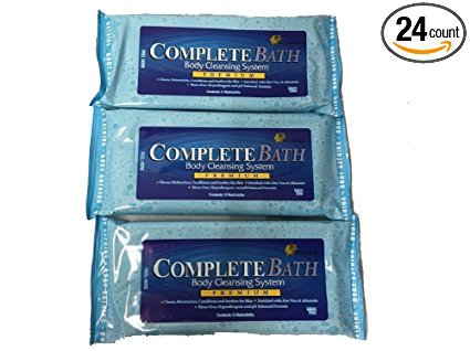 CompleteBath Body Cleansing System 8 Cloths (Pack of 3) (Best Days To Travel Amtrak)
