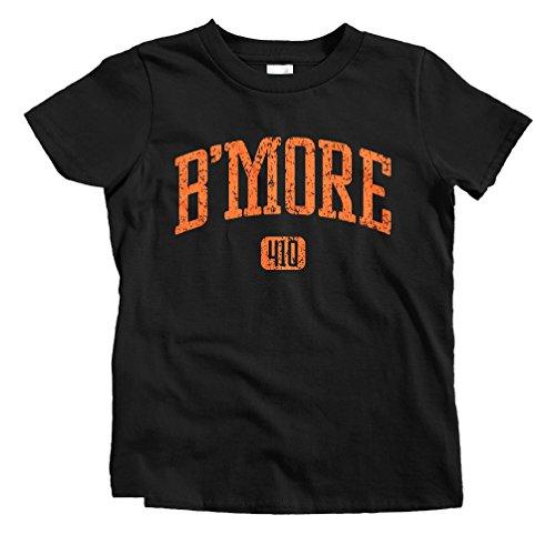 - Smash Transit Kids B'more 410 Baltimore T-Shirt - Black, Youth X-Large