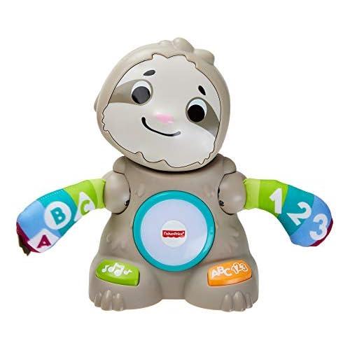 chollos oferta descuentos barato Fisher Price Linkimals Matthieu le Paresseux Juguete interactivo para bebé sonido y luces versión francesa 9 meses y más GHY89