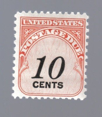 (Lot of United States (1) 10 Cent Postage Due Stamp by U.S. Mail)
