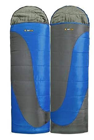 Oztrail Pack de Dos Sacos de Dormir Tasman Hooded -5ºC Comfort 0ºC Cada Saco Mide 80x230cm y Pesa 1.5kg Sacos para Parejas SBH-TTP-C: Amazon.es: Deportes y ...