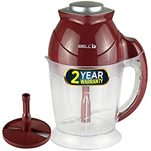 IBELL VC545SG 200 Watts Vegetable Cutter/Chopper Grinders with Whisking Attachment, Maroon