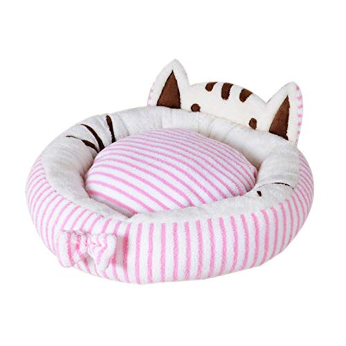 Winter Thermal Pet Bed for Cats and Small Medium Dogs Universal Soft Nest Cute Cat Face Modeling Sleeping Bag House Cushion Mat Pad (Thermal Modeling)