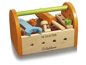 Eichhorn 100004909 - Caja de herramientas de madera con varios accesorios [Importado de Alemania] (Simba Dickie)