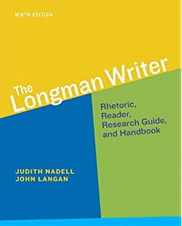 Amazon Com The Longman Writer Rhetoric Reader Research Guide