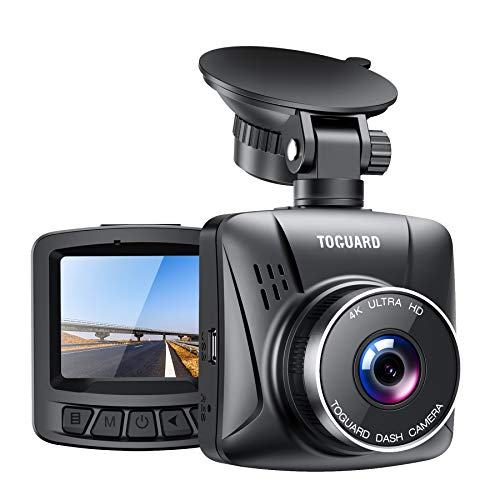 TOGUARD Upgraded Dash Cam 4K 3840x2160P GPS Dashboard Dash Camera for Cars 1.5 inch 170° Wide Angle Vehicle Driving Recorder with Loop Recording Parking Monitor Travelapse White Balance