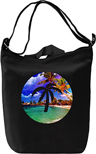 Summer Palm Borsa Giornaliera Canvas Canvas Day Bag| 100% Premium Cotton Canvas| DTG Printing|