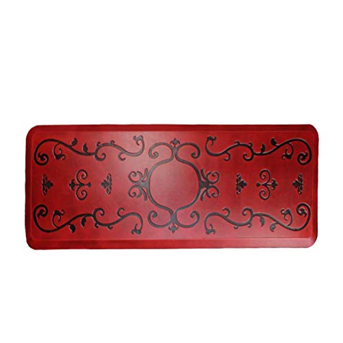 Comfort Mat, Kitchen Floor Mats, Ergonomically Engineered, For Kitchen, Bathroom or Workstations (20x39x3/4-Inch, Red) (24x70x3/4-Inch, red antique) ()