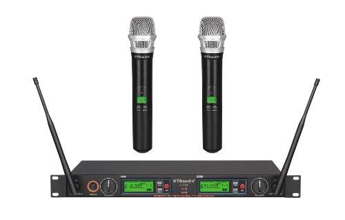 Uhf True Diversity Wireless Microphone (GTD Audio G-733H 2x800 Channel Diversity UHF Wireless microphone mic)
