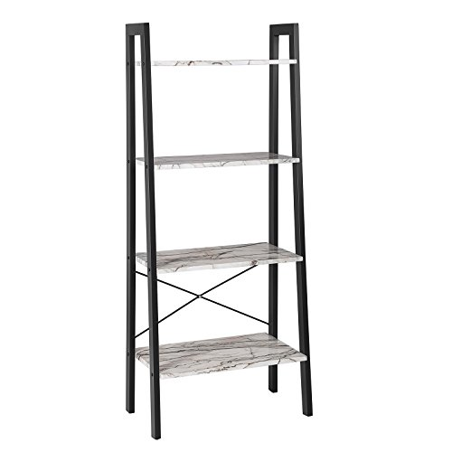 Kitchen Ladder Shelf: SONGMICS Ladder Shelf, 4-Tier Bookcase, Storage Rack For