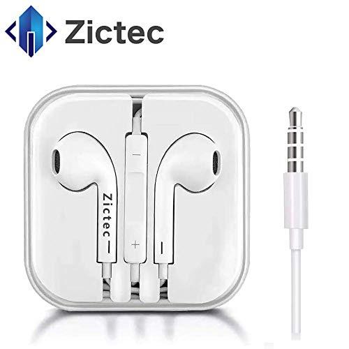 Zictec Earbuds/Earphones/Headphones Premium in-Ear Wired Earphones with Remote & Mic