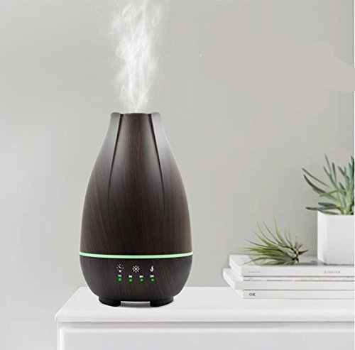 Aromatherapy Essential Oil Diffuser Cool Mist Humidifier 500Ml Ultrasonic With Adjustable Mist Mode Auto Shut-Off Timing Feature LED Light Perfect For Home,Office,Living Room,Spa,Car,Black by L&X (Image #1)