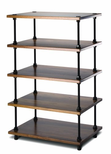 Salamander Designs A5/W Archetype 5-Shelf Audio Stand (Walnut)