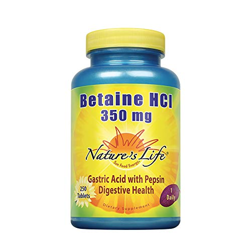 (Nature's Life Betaine HCL , 350 Mg, 250 Tablets)
