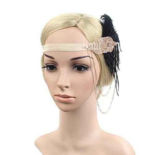(Art Deco 1920s Flapper Headband Roaring 20s Great Gatsby Headpiece 1920s Flapper Gatsby Hair)