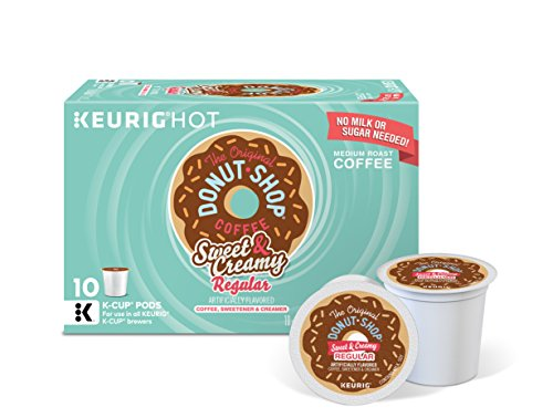 Keurig Coffee Sweet - The Original Donut Shop Keurig Single-Serve K-Cup Pods, Sweet and Creamy Regular Medium Roast Coffee, 10 count (Pack of 6).