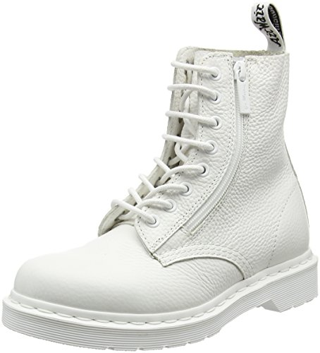Dr Sally White Zip Pascal with Women's Combat Martens Boot Aunt rqzwr7HF