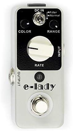 ギターエフェクター Elecladyクラシックアナログフランジャーペダルフルメタルシェルミニノーマルおよびフィルターモデル ディストーション (Color : White, Size : Free size)
