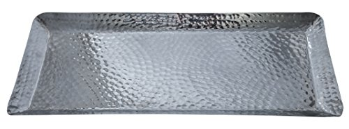 Hammered Aluminum Serving Tray (18x8x1